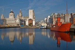 Red Ship in the Albert Docks, Liverpool
