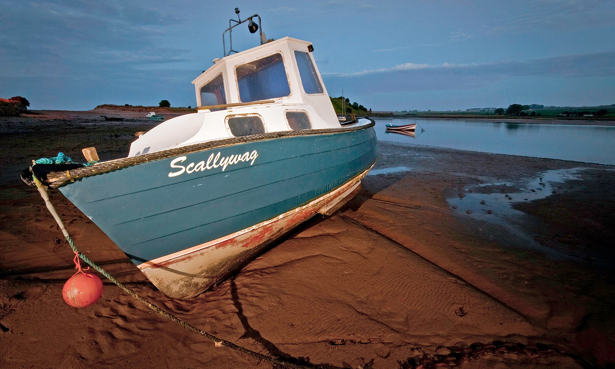 Scallywag Boat at Alnmouth Harbour