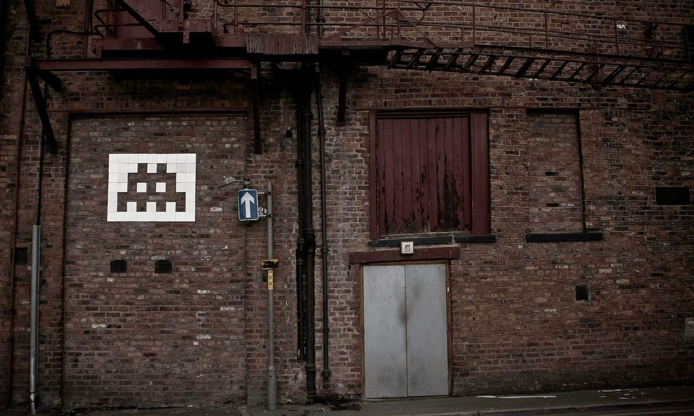 Space Invader Graffiti, Manchester