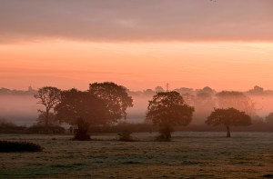 Sunrise from Ash Lane, Hale, Cheshire