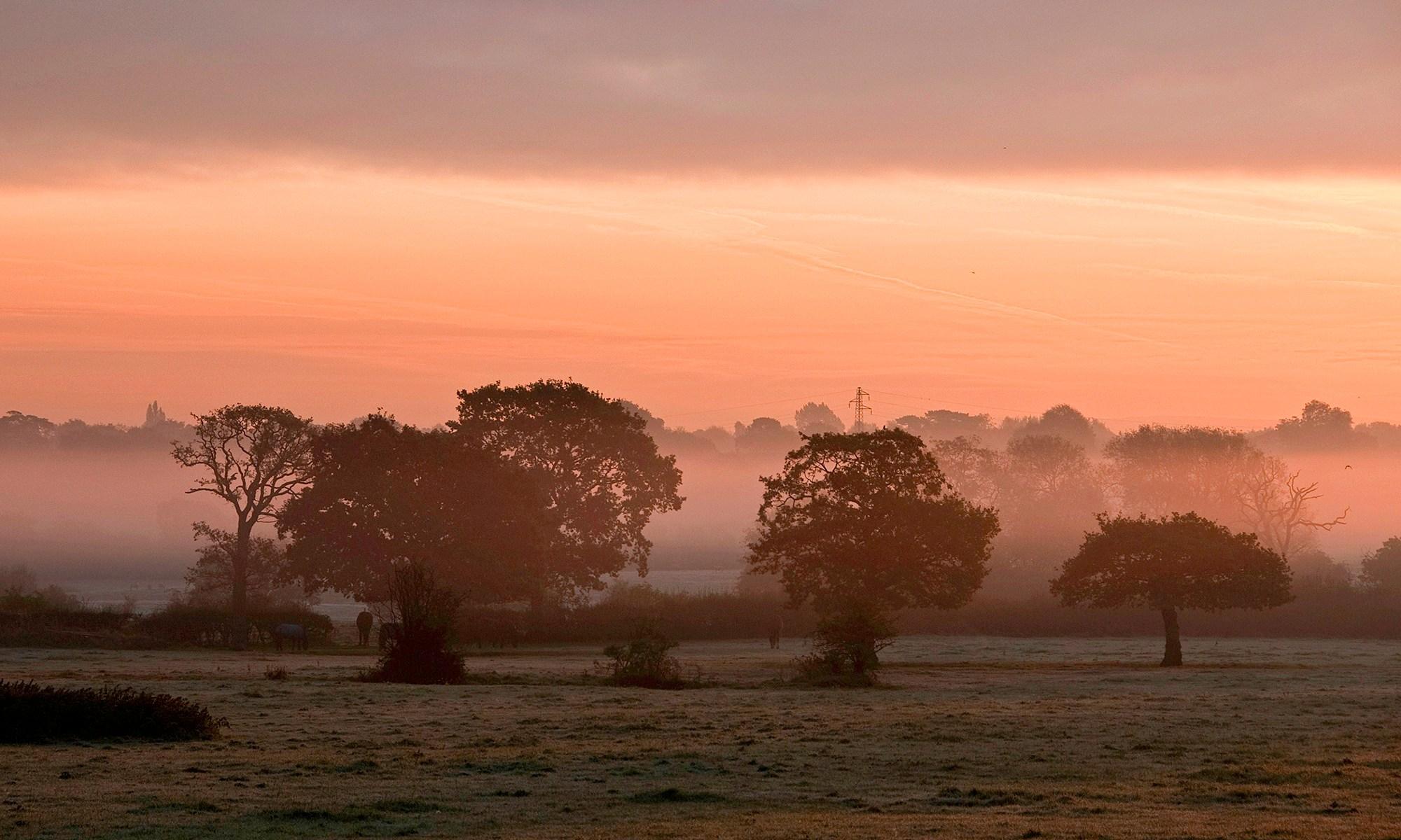 Sunrise from Ash Lane, Hale, Cheshire