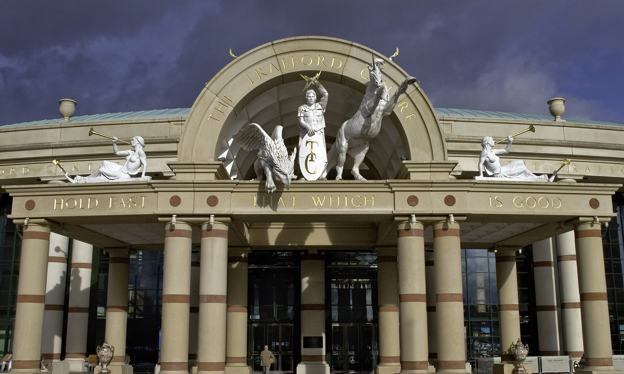 Trafford Centre Main Entrance with Statues