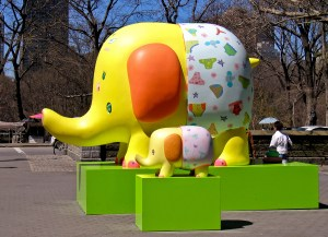 Yellow Elephants in Underwear, New York