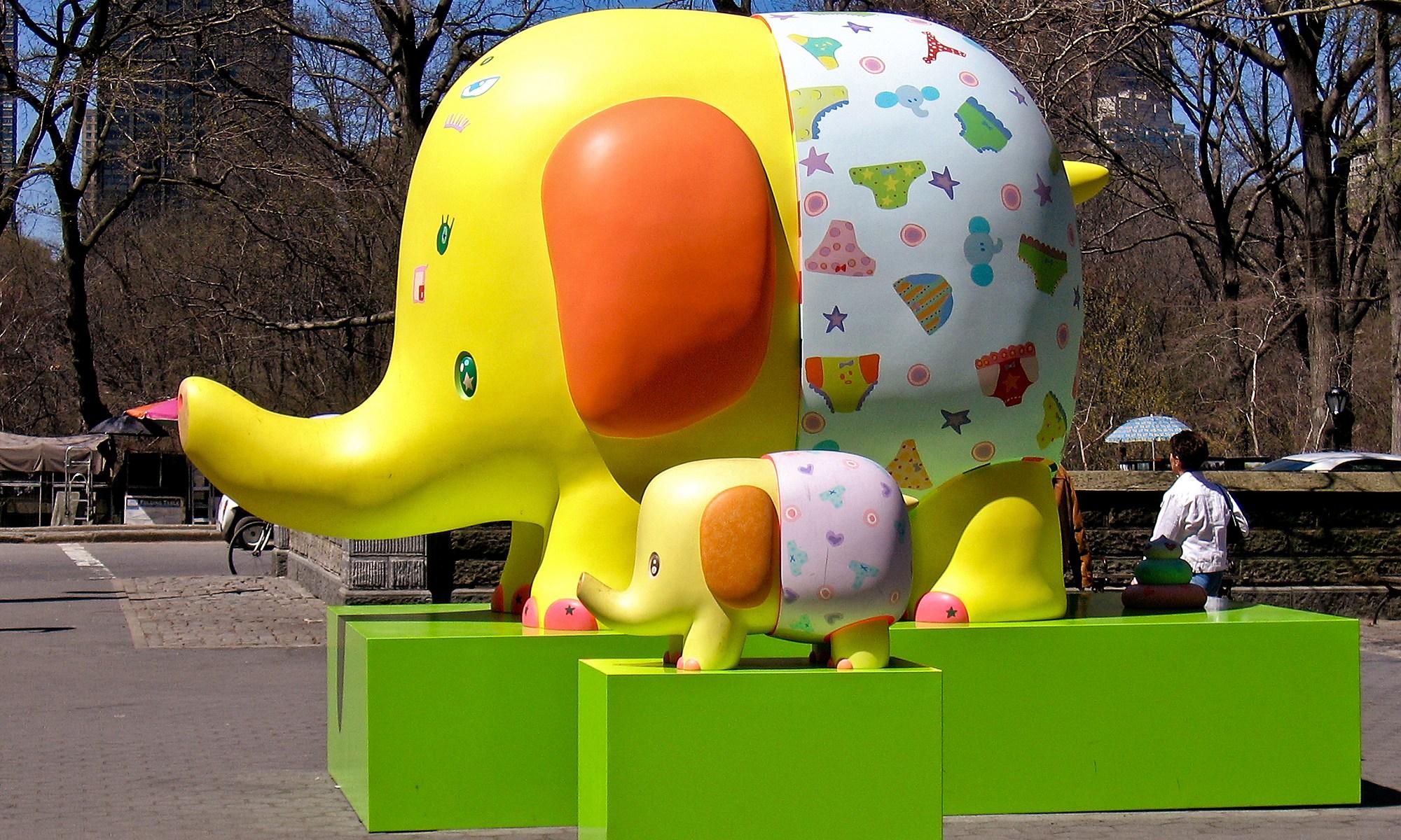 Yellow Elephants in Underwear, New York