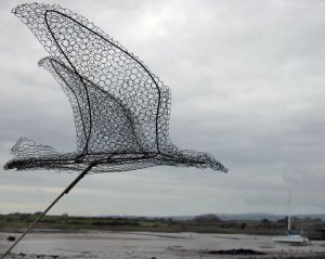 Bird Sculpture at Ravenglass