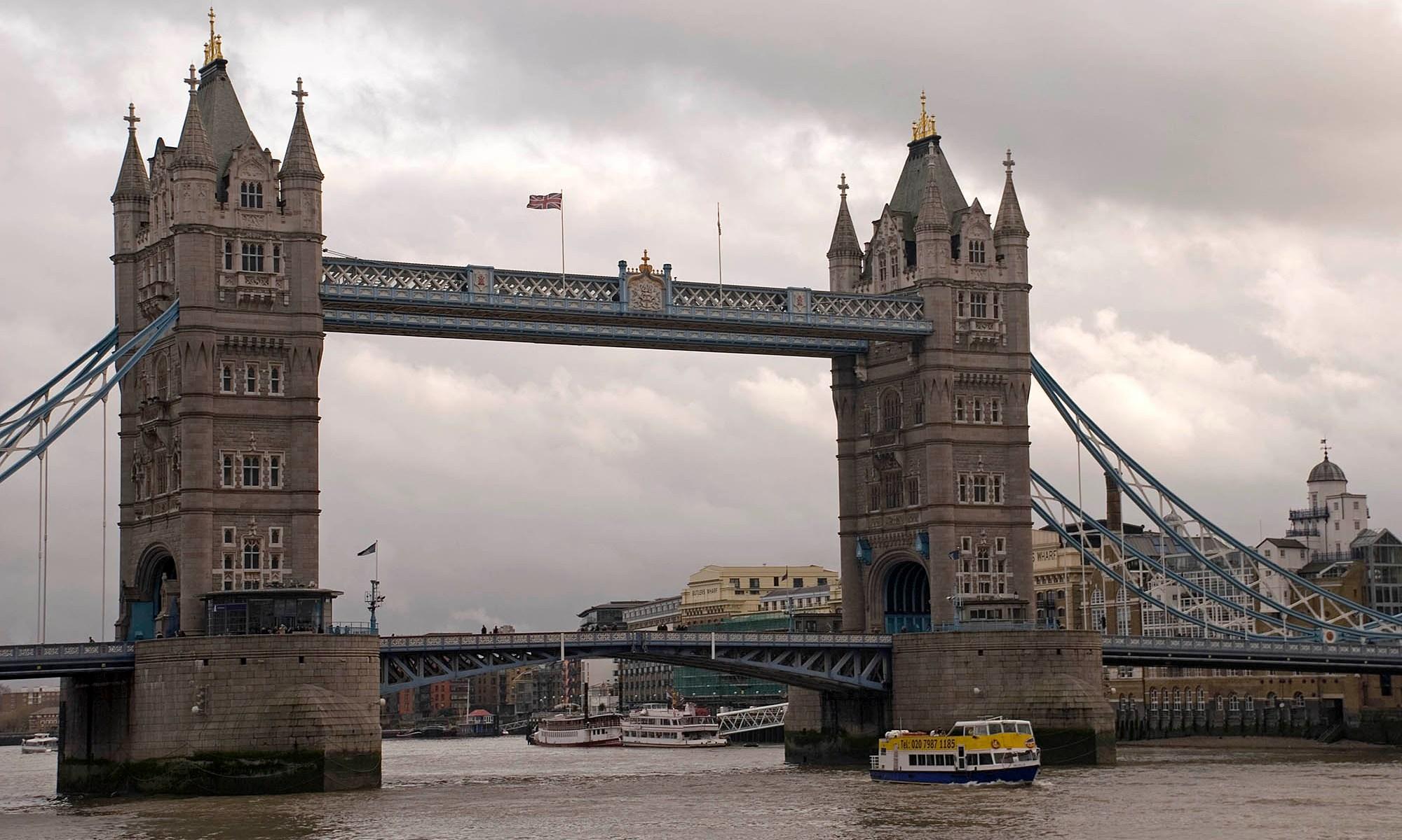 London's Tower Bridge on the River Thames