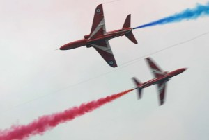 Red Arrows Stunt at Southport Airshow