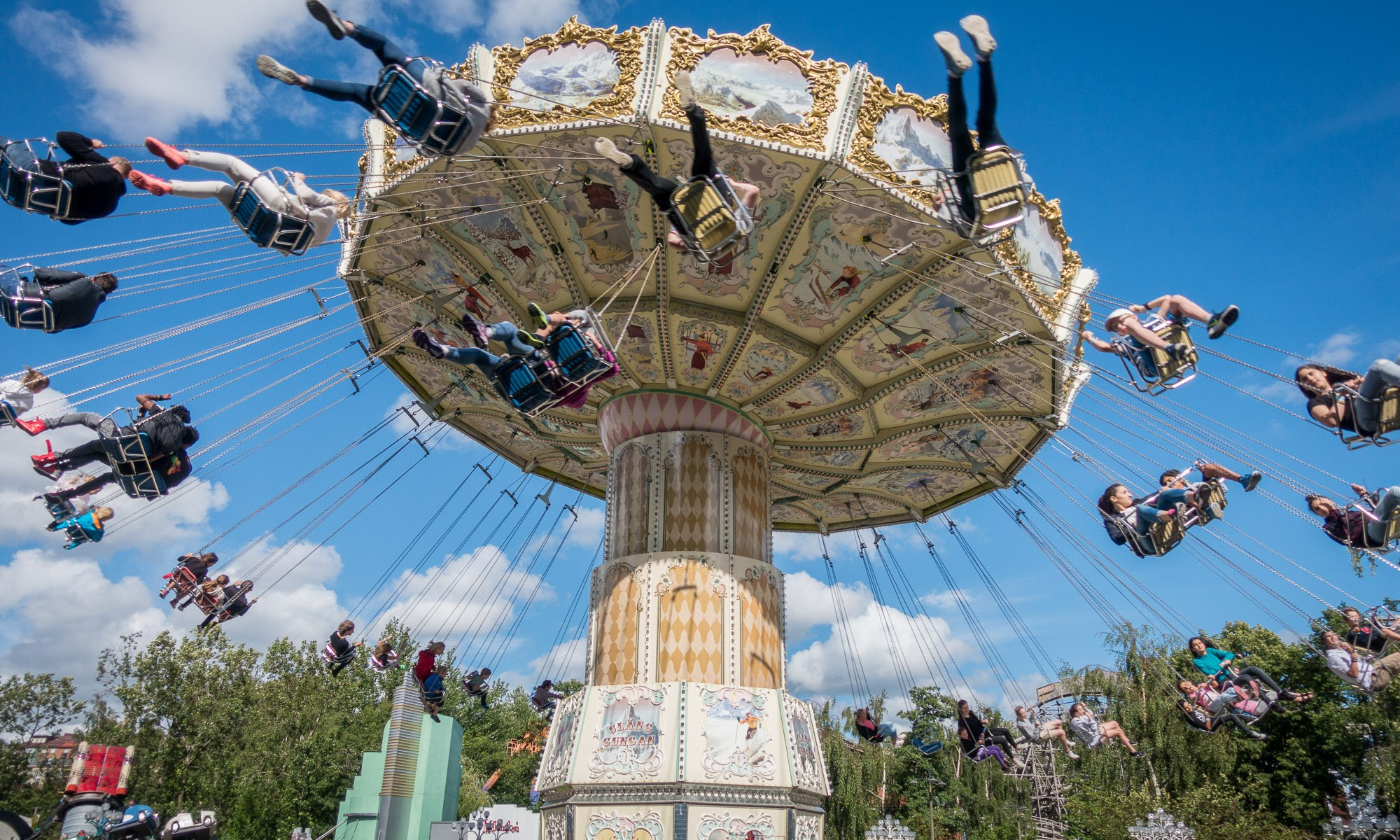 Swing ride at Liseberg Amusement Park