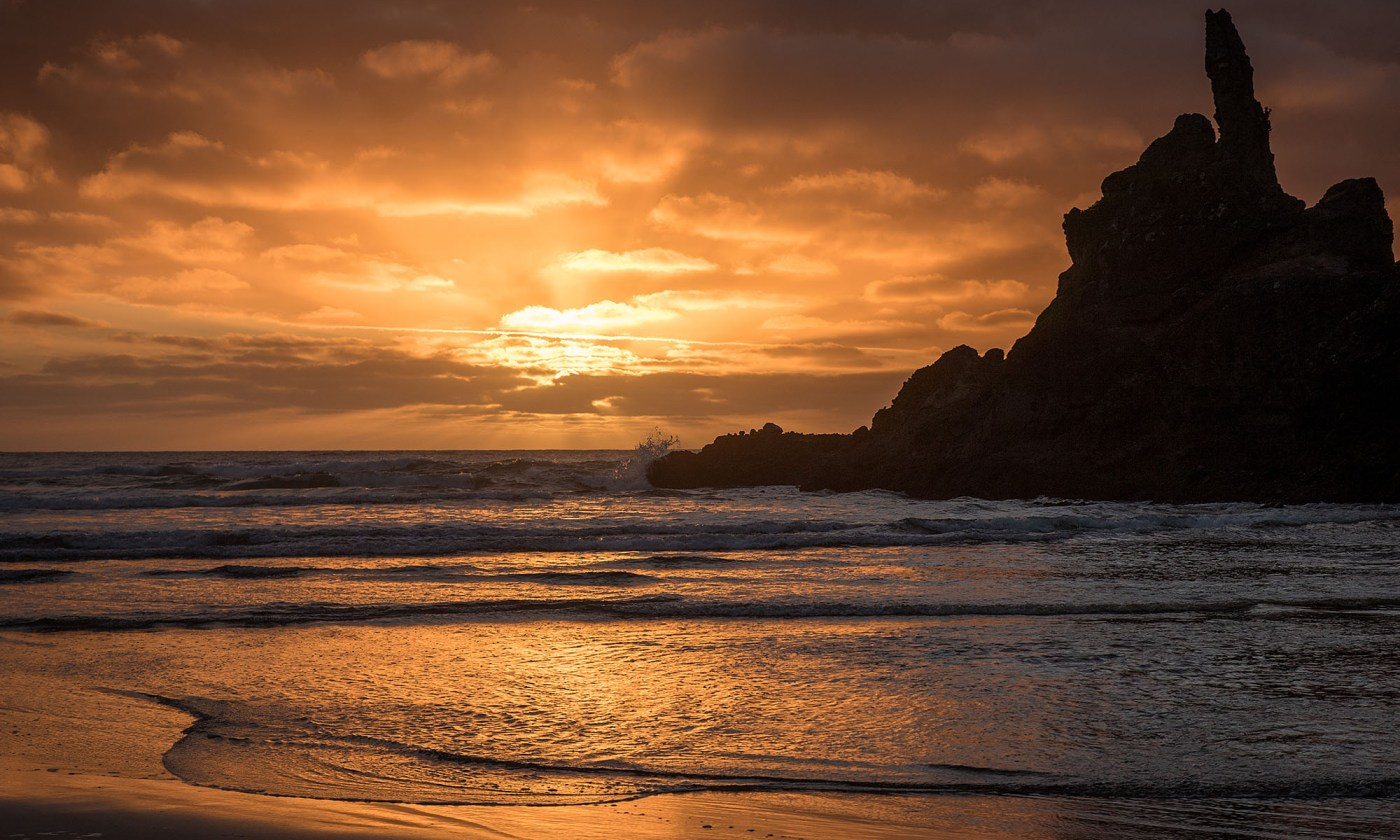 Sunset from Piha beach