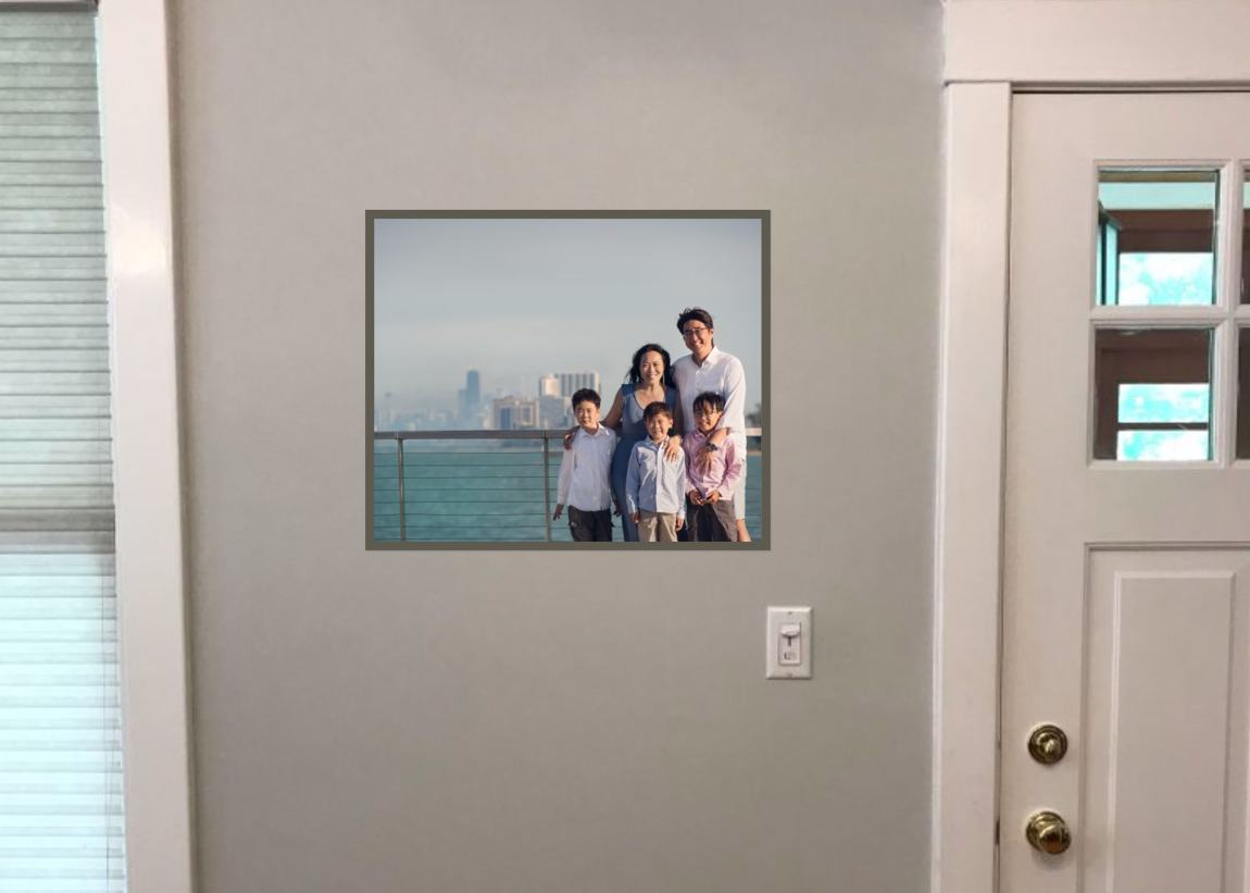 Framed Print in Client's Home