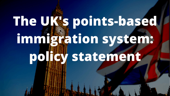 The UK's points-based immigration system_ policy statement