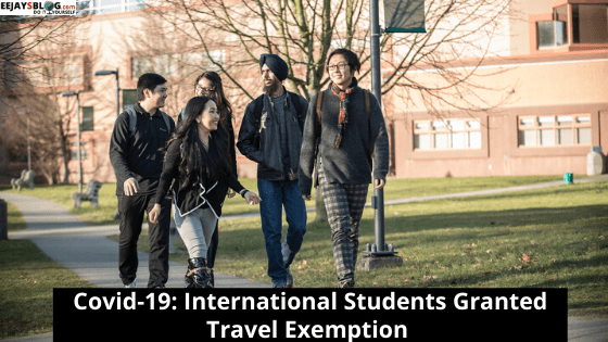 International Students Exempted