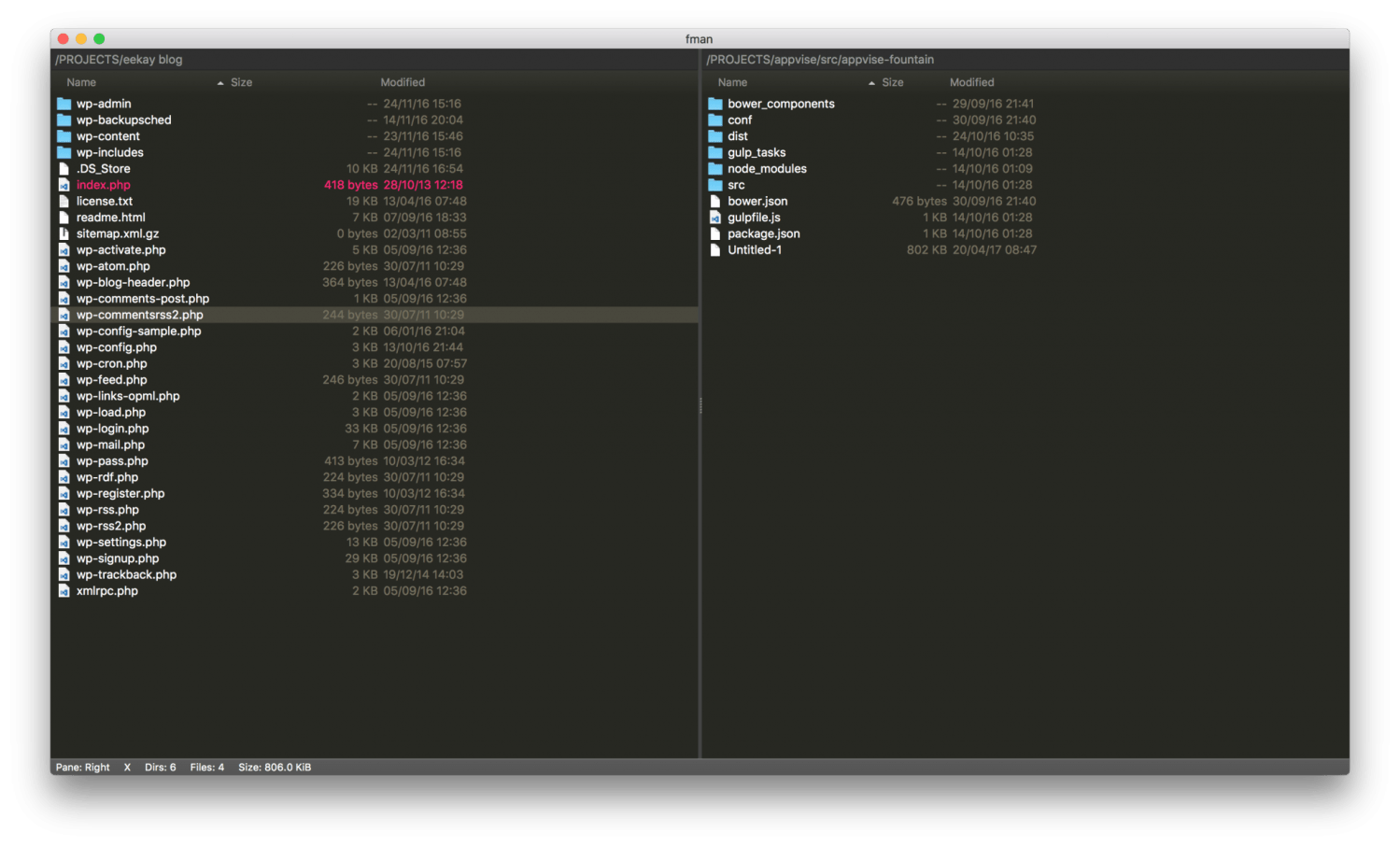 fman, the file manager for Mac