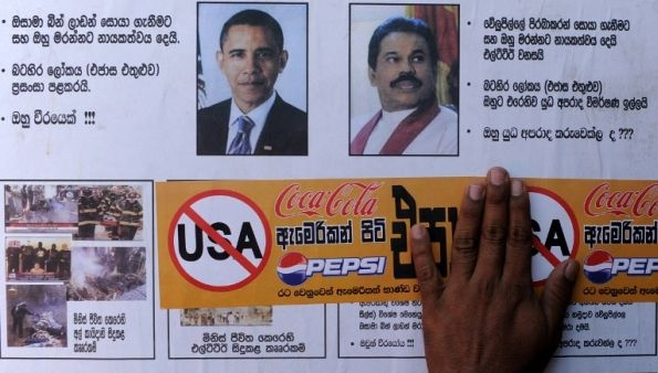 SL protest against usa