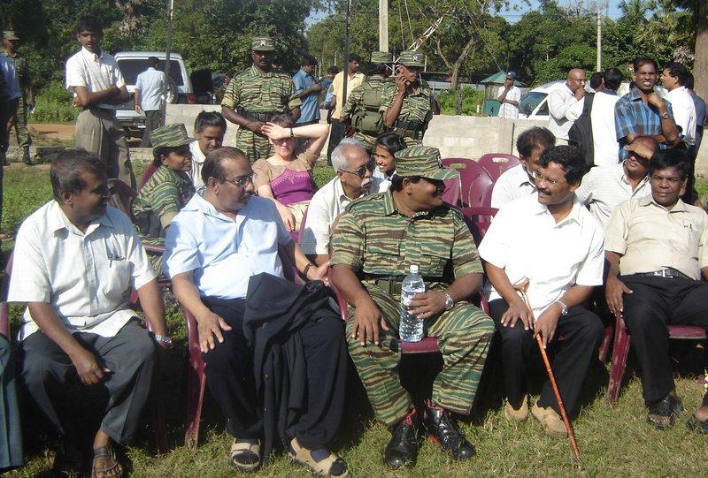 Mr. and Mrs. Anton Balasingham with senior LTTE leaders in Kilinochchi, 23. January 2006 2.