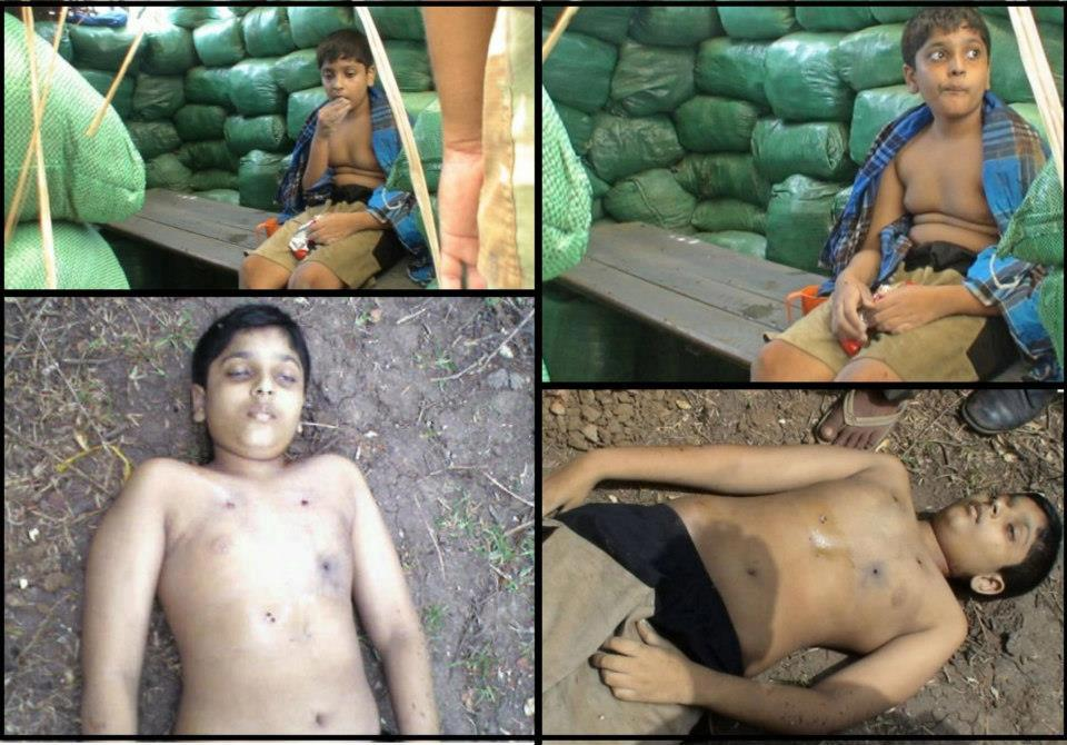 12 year boy balachchandran killed by srilanka
