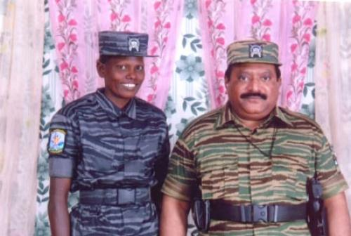 Bt Maj Niranjini with prabakaran