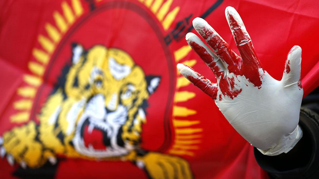 SriLanka bloody hands