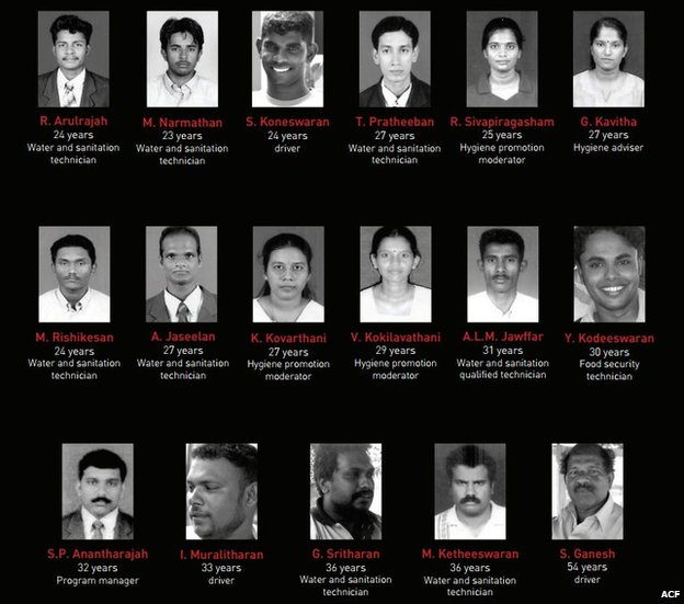 17 of its aid workers in 2006