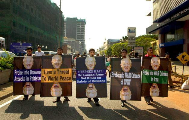 Sri Lanka pro-government political protest against USA