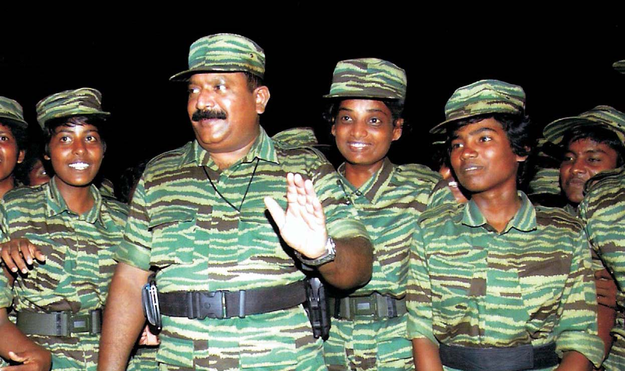 ltte women brigade with leader