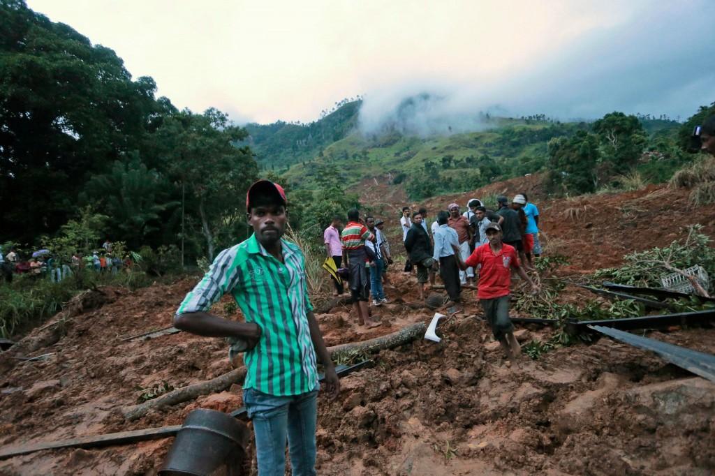 Sri Lankan  mudslide
