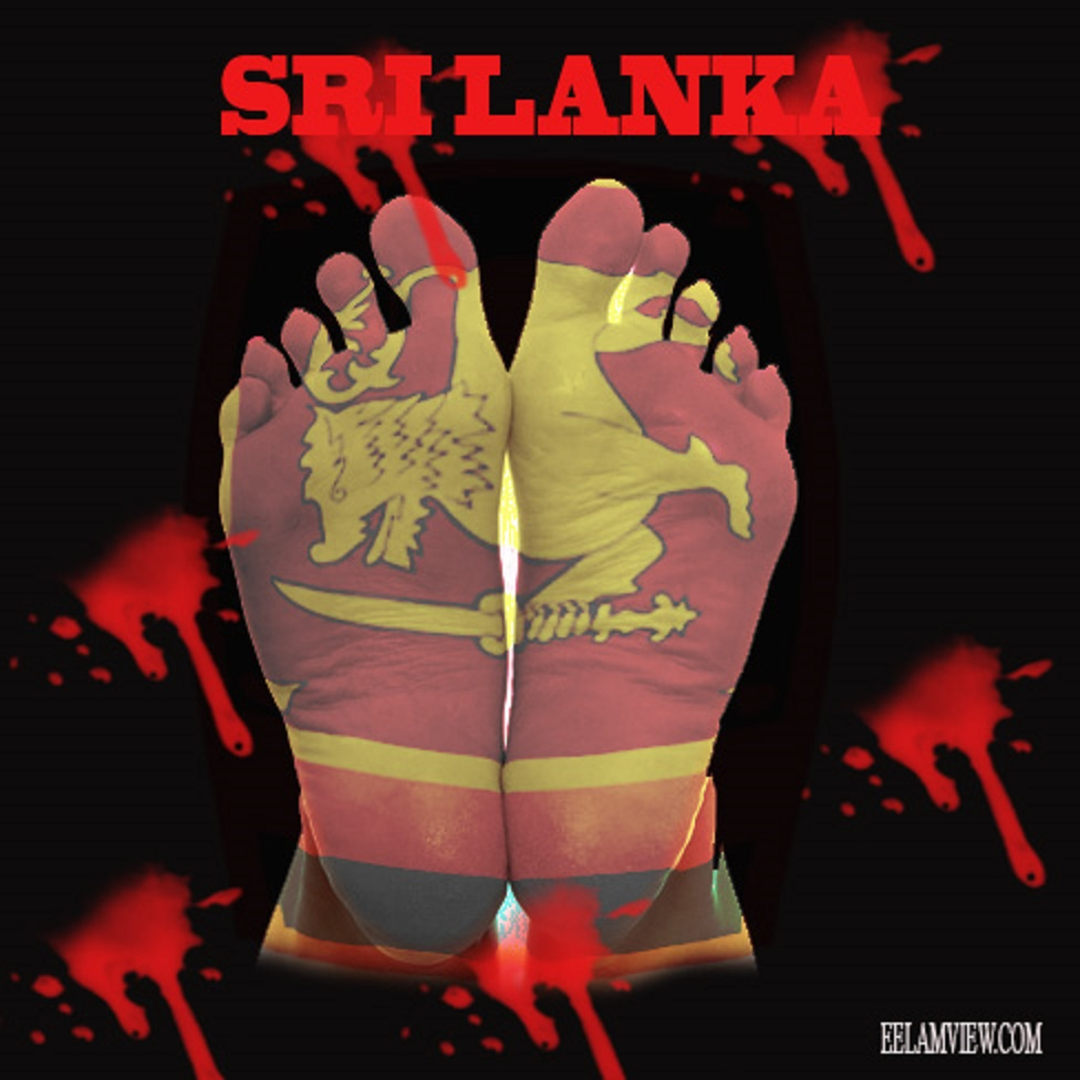 srilanka flag feet