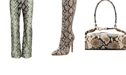 Slay in These Snakeskin Print Accessories