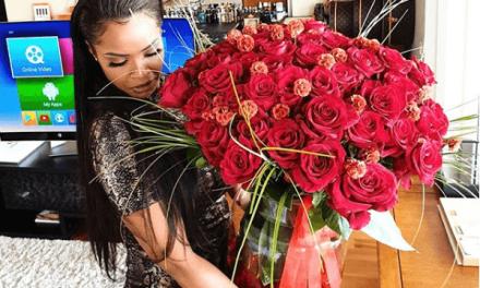 Dillish Matthews shows off Valentine Gift from Footballer Boyfriend, Emmanuel Adebayor