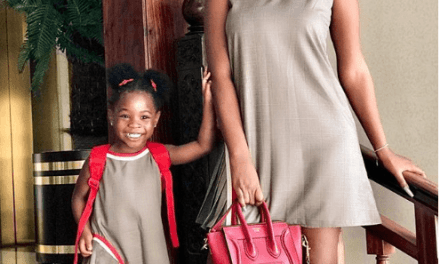 Fashion Twins! Sophia Momodu and Daughter Are Trendy in Matching Outfits