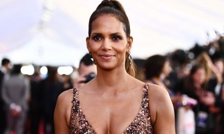 Halle Berry shows off new ginormous back tattoo