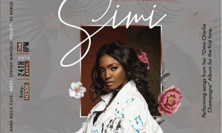 Simi to Hold Live Session for New Album #OmoCharlieChampagne