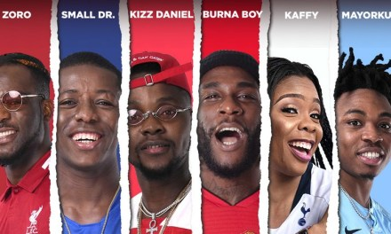 Listen to Naija's First EPL Song 'Leggo' by Burna Boy, Mayorkun, Kizz Daniel and others