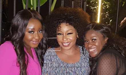 Genevieve Nnaji, Rita Dominic, Uche Jombo, Ini Edo & Omotola Jalade-Ekeinde Spotted Together At Girl's Night Out