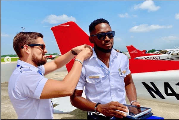 #BBNaija Winner, Miracle Bags Certification From United States Aviation School