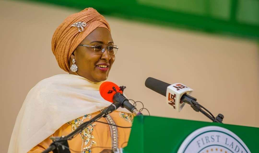 Aisha Buhari Reacts To Biodun Fatoyinbo's Rape Case