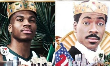 "Fashion Geeks Will Love Giannis Antetokounmpo's ""Coming To America"" Nike Sneakers"