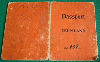 Eel Pie passport from 1958 - front