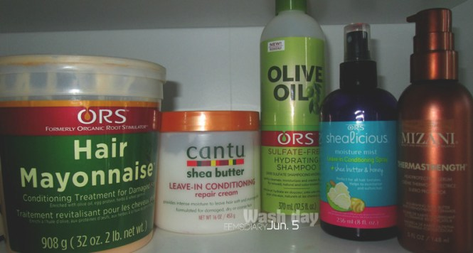 2016.06.05 - wash routine for relaxed hair - products