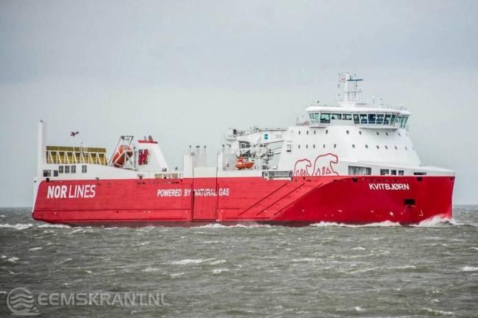 Mijlpaal voor Groningse havens: eerste zeeschip volledig op LNG