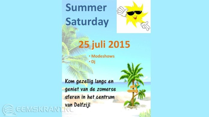 Handelsvereniging Centrum Delfzijl organiseert een Summer Saturday in het centrum