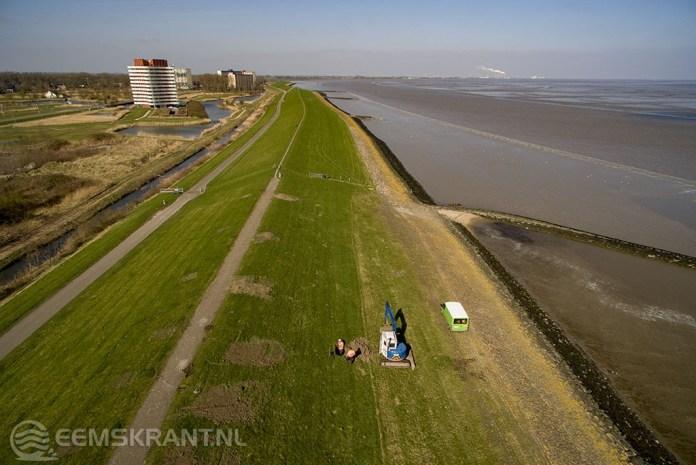 Dijk en stranden tussen Delfzijl en de Eemshaven vanaf 4 september afgesloten