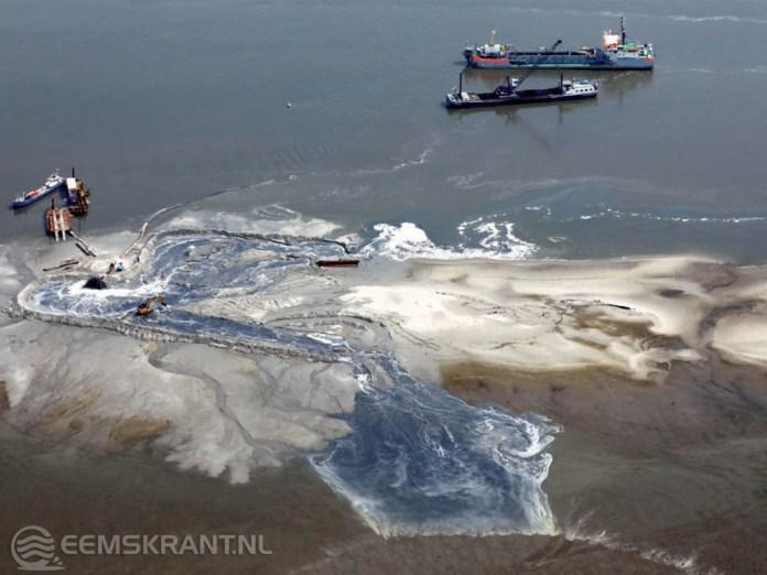 Nieuw eiland in de Eems-Dollard krijgt vorm