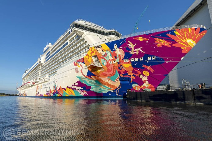 Cruiseschip World Dream wordt maandag in de Eemshaven verwacht
