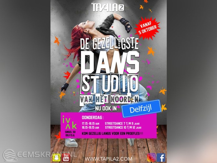 Studio Tapila2 start tweede dansstudio in Delfzijl