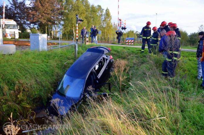 81-jarige automobilist uit Loppersum belandt in de sloot bij Veendam