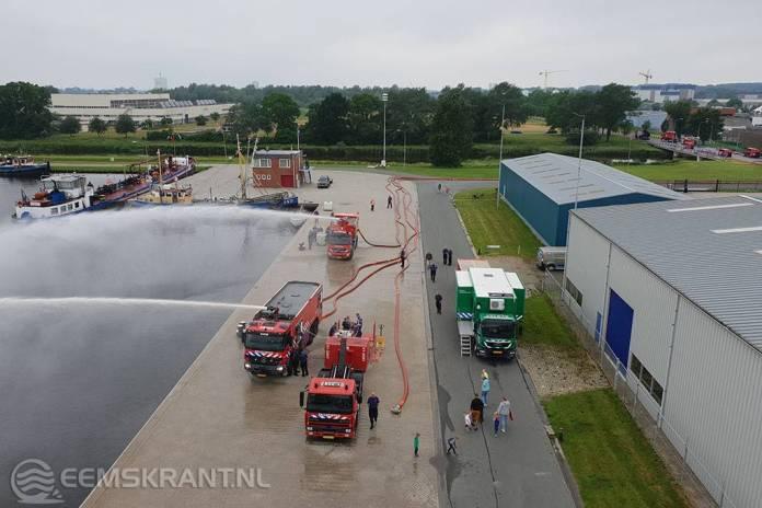 Grote bluswatercapaciteitstest in de Farmsumerhaven