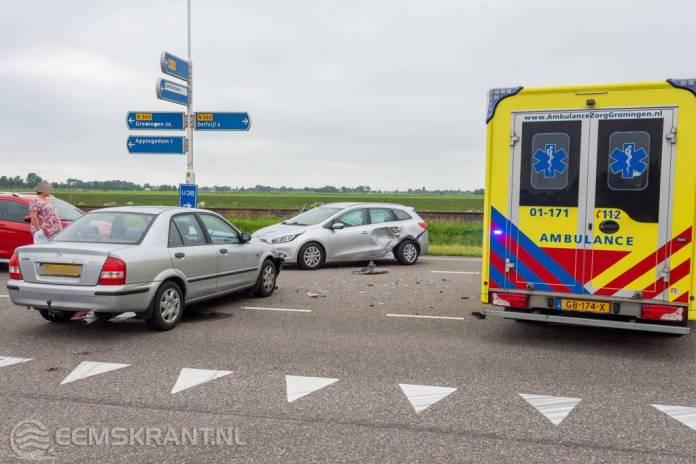 Verkeersongeval op de N360 bij Appingedam