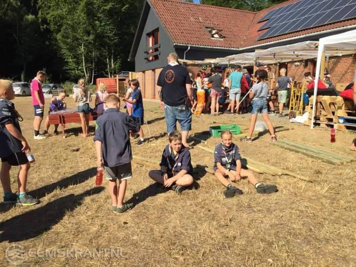 Scouts Fivelgroep op zomerkamp in Denemarken