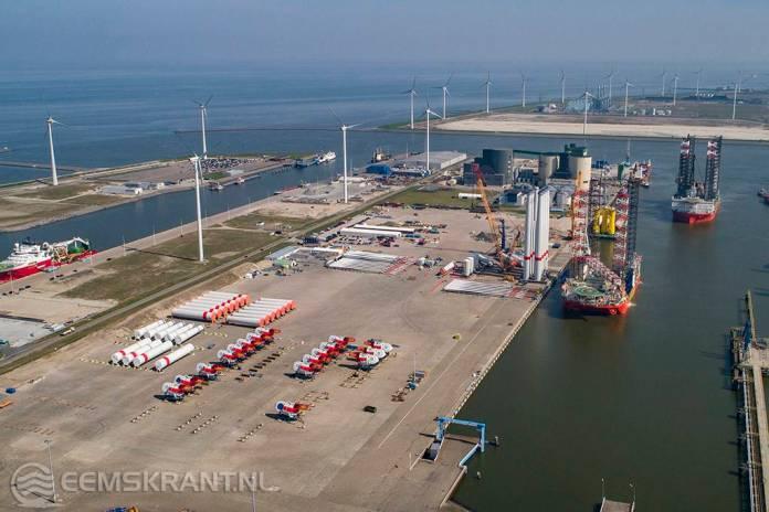 Consortium van Gasunie, Groningen Seaports en Shell Nederland starten met ambitieus groene waterstofproject 'NortH2' in de Eemshaven